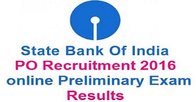 SBI PO Prelims results