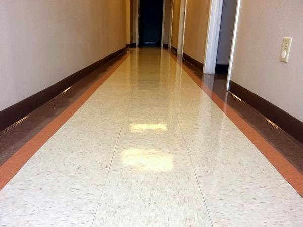A hallway vct strip and wax job