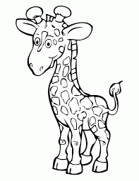 Baby Giraffe Coloring Sheet Ideas For Kids Image
