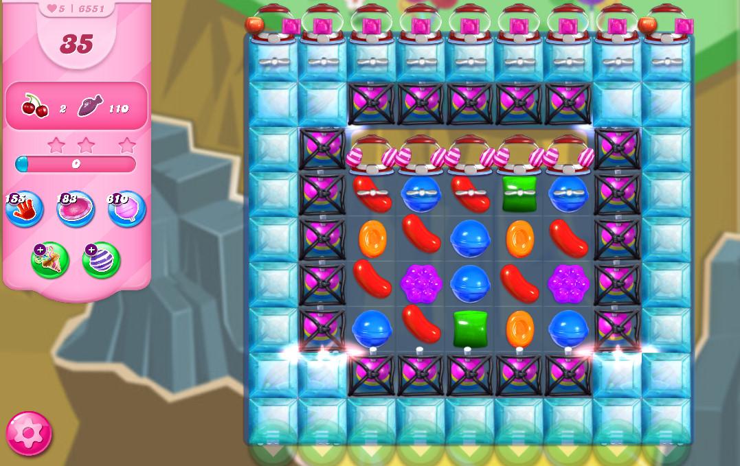 Candy Crush Saga level 6551