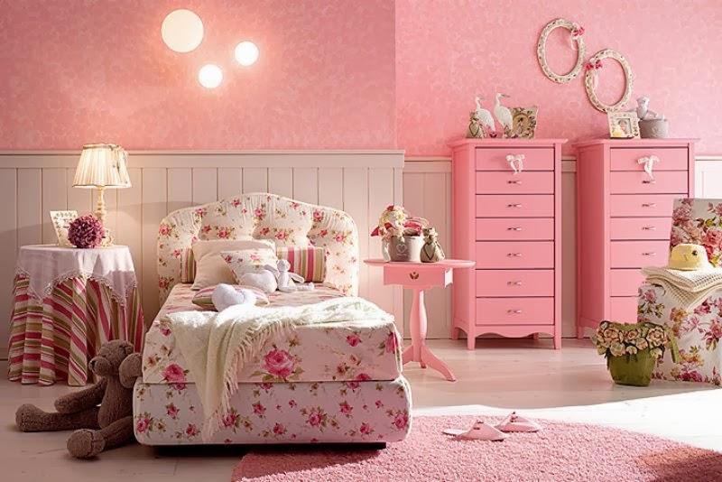 Dormitorios color rosa para ni a dormitorios colores y - Combinar colores habitacion ...
