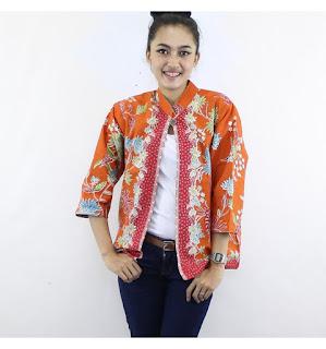 Model Baju Batik Kombinasi Bolero Spesial