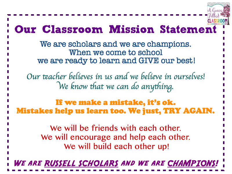 Personal mission statements for high school students