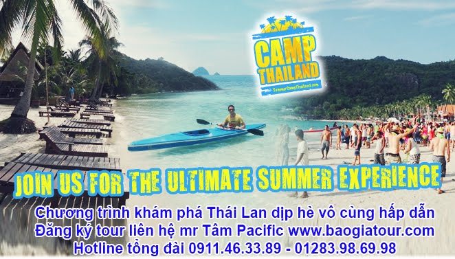 Chương trình khám phá Thái Lan dịp hè vô cùng hấp dẫn nhất