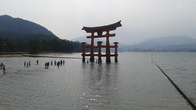 Tori en el agua de Miyayima
