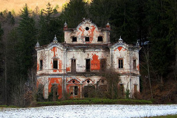 "Abandoned ""Villa de Vecchi"" (The Ghost Mansion), Near Lake Como, Italy"
