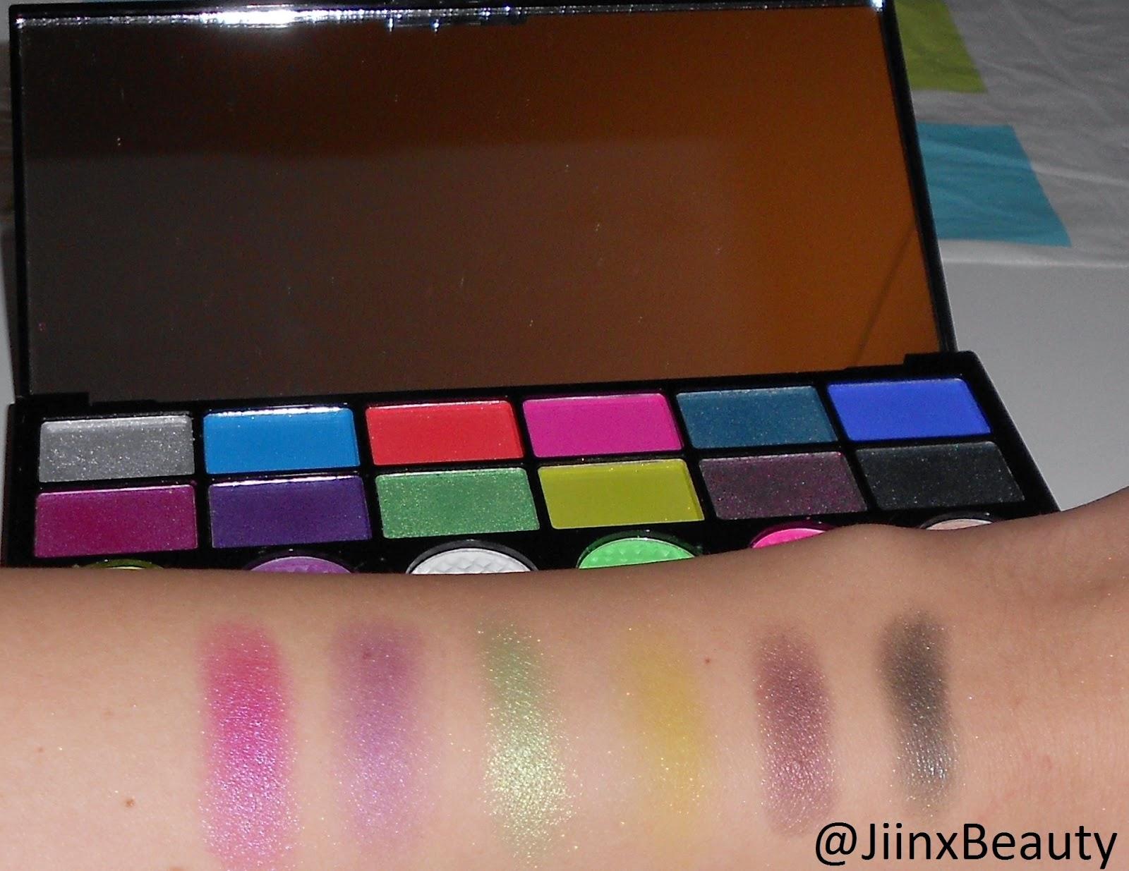 Makeup-Revolution-Colour-Chaos-Palette-swatches