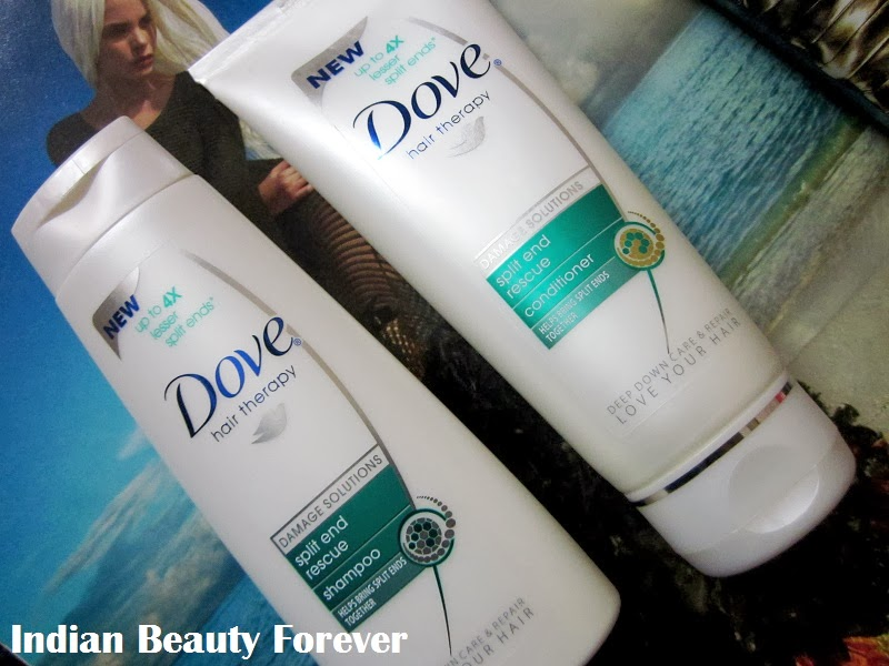 Dove split end rescue shampoo and conditioner Review