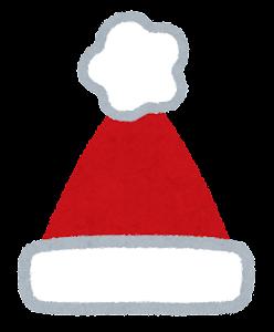 サンタ帽のイラスト(小)