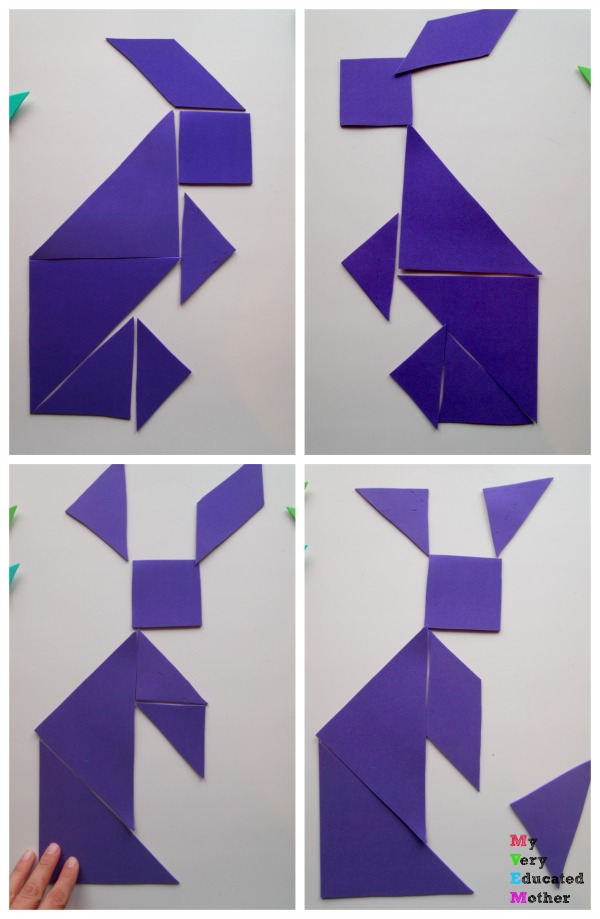 How many different rabbits could you make with a set of tangrams?