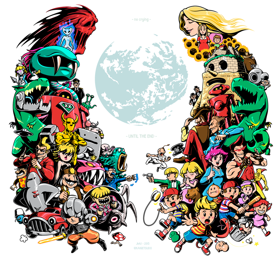 EarthBound Reshuffler Arcade Cabinet Side Art | Kaigetsudo