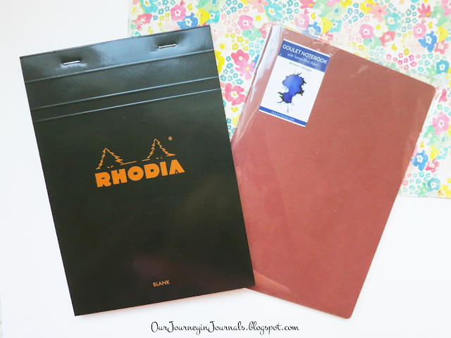 rhodia notepad and goulet notebook
