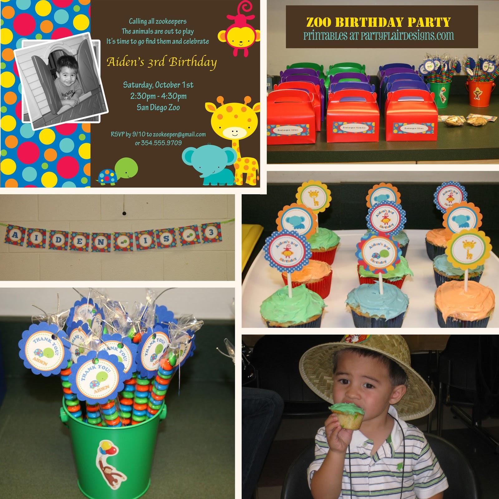 Party Flair Designs: PARTY RECAP: Zoo Birthday Party