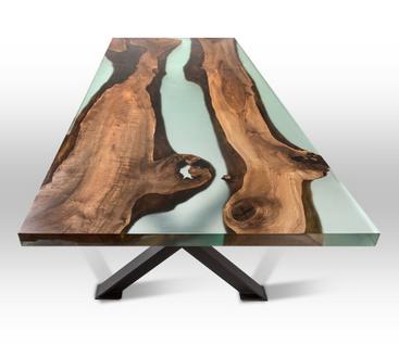 meja resin unik untuk restoran