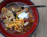 Easy Chicken or Turkey Tortilla Soup
