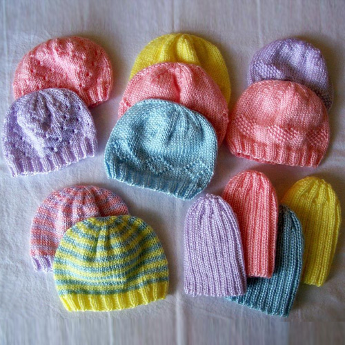 Preemie Hats for Charity - Free Patterns