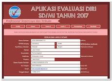 Aplikasi Evaluasi Diri SD/MI Tahun 2017/2018