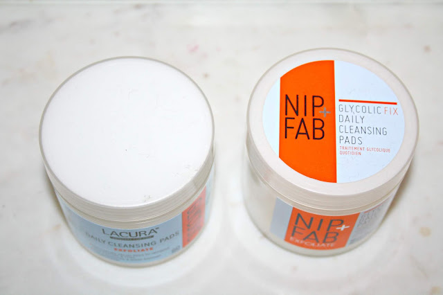 Aldi Lacura Glycolic Cleansing Pads Tops