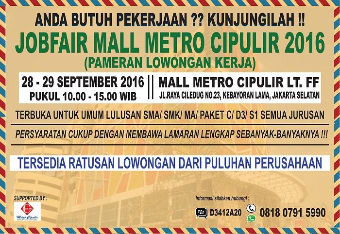 Jobfair Jakarta Selatan - Mall Metro Cipulir 2016