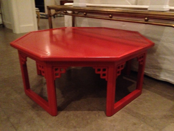 Fretwork Coffee Table.Chinoiserie Chic Red Chinoiserie Coffee Table At Liv Vintage