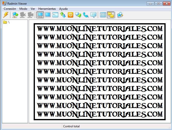 Interfaz del programa remoto Radmin