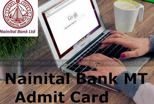 Nainital Bank MT Admit Card