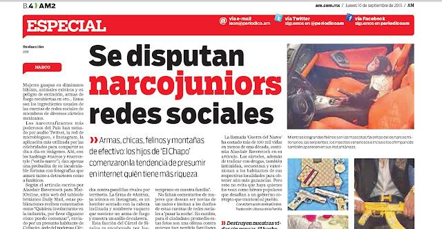 Traducción: Se disputan narcojuniors redes sociales