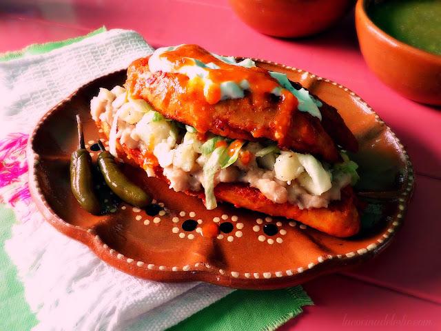 Mexican Pambazo sandwich recipe - lacocinadeleslie.com