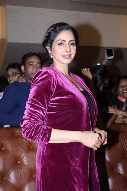 Sridevi Stills At Special Fan Screening Of MOM Movie