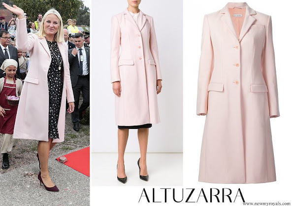 Crown Princess Mette-Marit wore Altuzarra single breasted coat