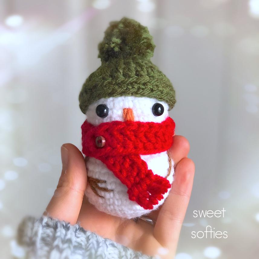Tiny Baby Snowman Free Crochet Pattern Sweet Softies Amigurumi