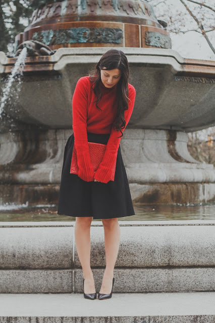 red cashmere turtleneck, Kathryn Stabile, Meryl Franzos, Christmas outfit