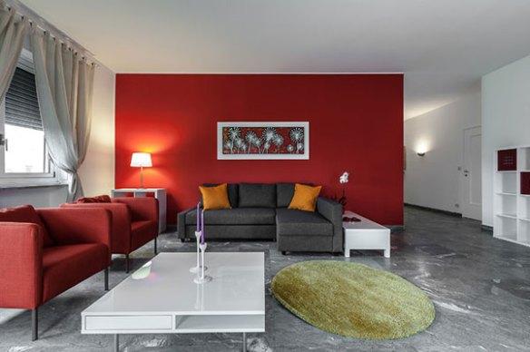 Kırmızı salon dekorasyonu örnekleri