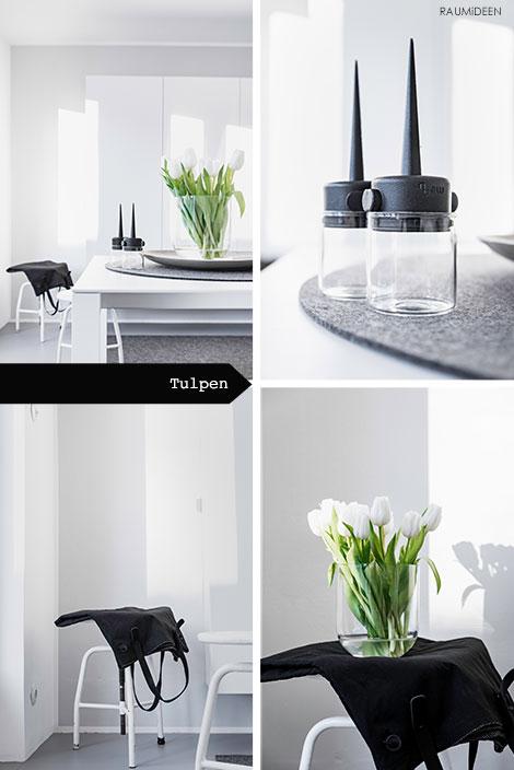 Dekoration mit Tulpen - Frühlingsdeko