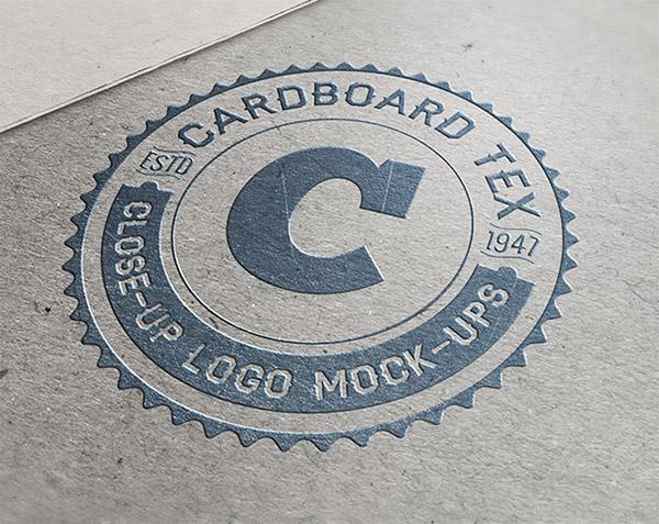 Download Logo Mockup PSD Terbaru Gratis - Close-Up Logo Mockup