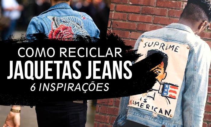 Como Customizar Jaqueta Jeans Masculina
