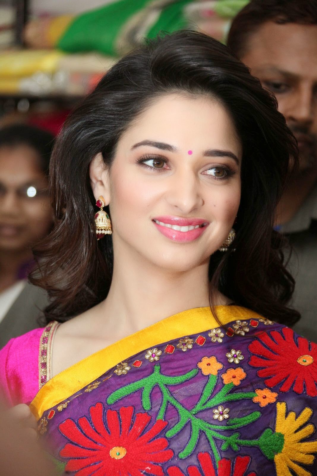 Actress Tamanna Latest Stills In Saree