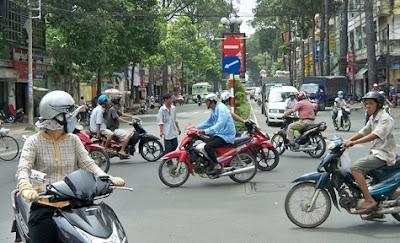 Motos en una ciudad
