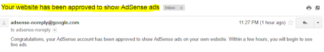Lulus Permohonan Akaun Penuh Google AdSense