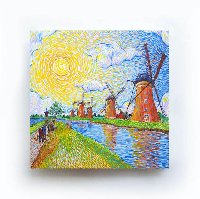 Kinderdijk Like Van Gogh