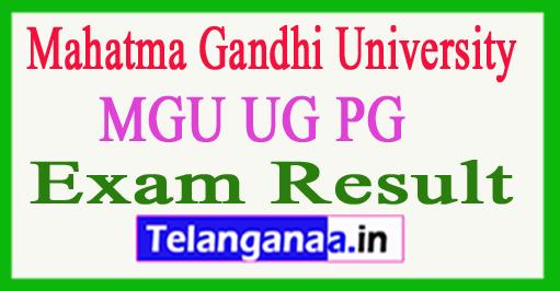 MGU UG PG Result 2018 Mahatma Gandhi University Result 2018