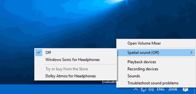 طريقة تحسين مستوى الصوت فى ويندوز 10 بتفعيل ميزة Windows Sonic