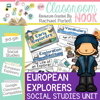 Check out this google classroom compatible social studies unit for teaching European Explorers - perfect for grades 3-5