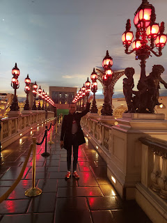 Jonathan at the Pont Alexandre III bridge replica at Paris Hotel Las Vegas Nevada