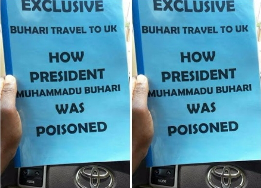 buhari poisoned rushed to uk for treatment