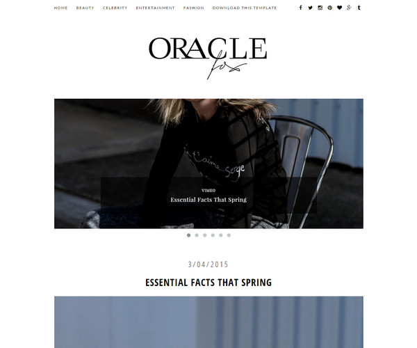 Oracle Template blogspot