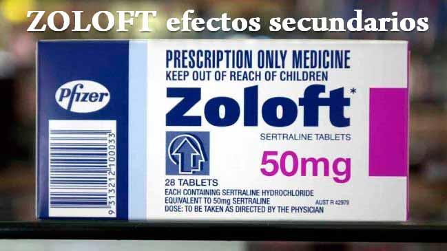 ZOLOFT efectos secundarios