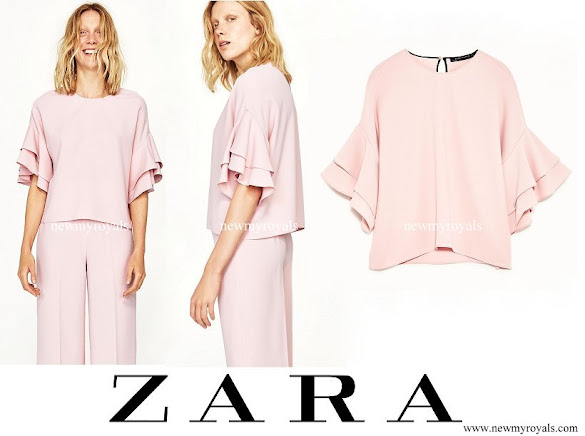 ZARA Frilled Blouse and Trousers