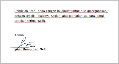 cara scan tanda tangan di printer