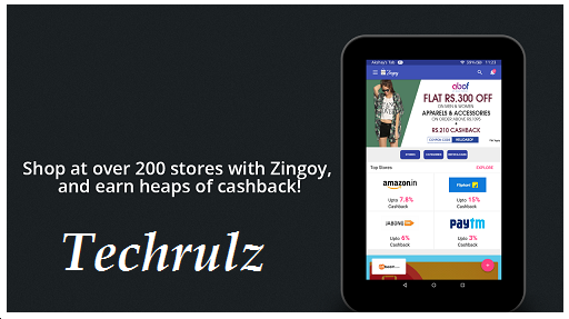 Enjoy Cashback On The Go with Zingoy App